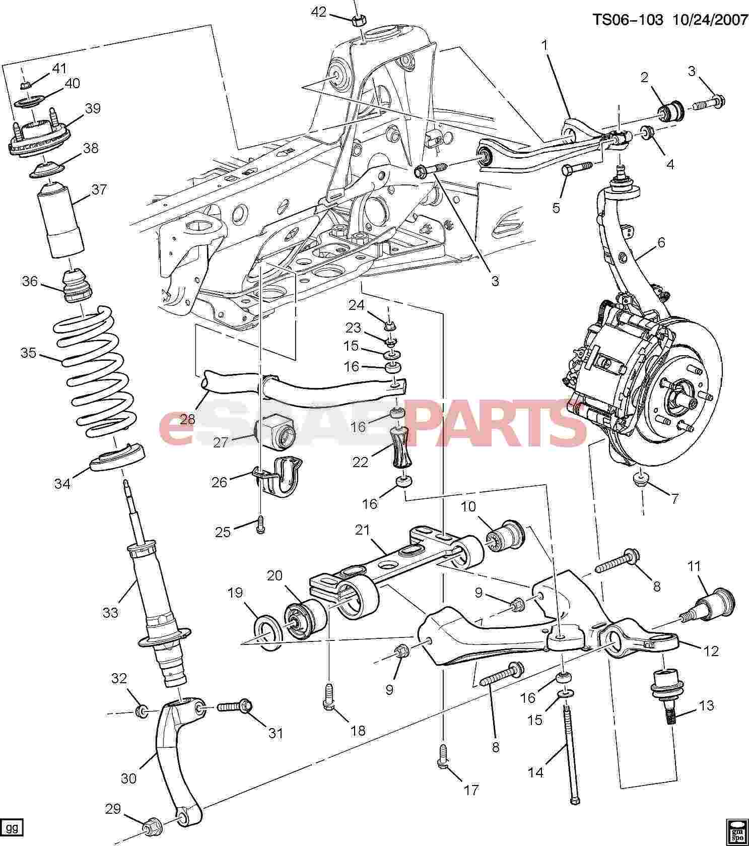 Gmc Acadia Front Suspension Diagram