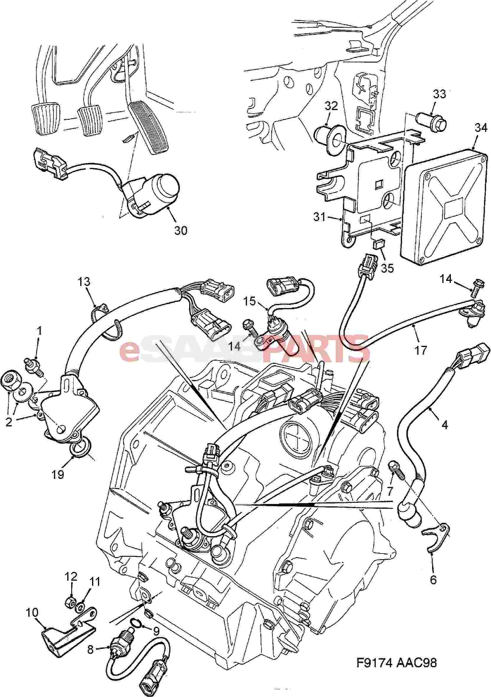 Saab Neutral Safety Switch