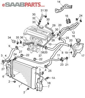[4876215] SAAB Radiator Hose  Genuine Saab Parts from