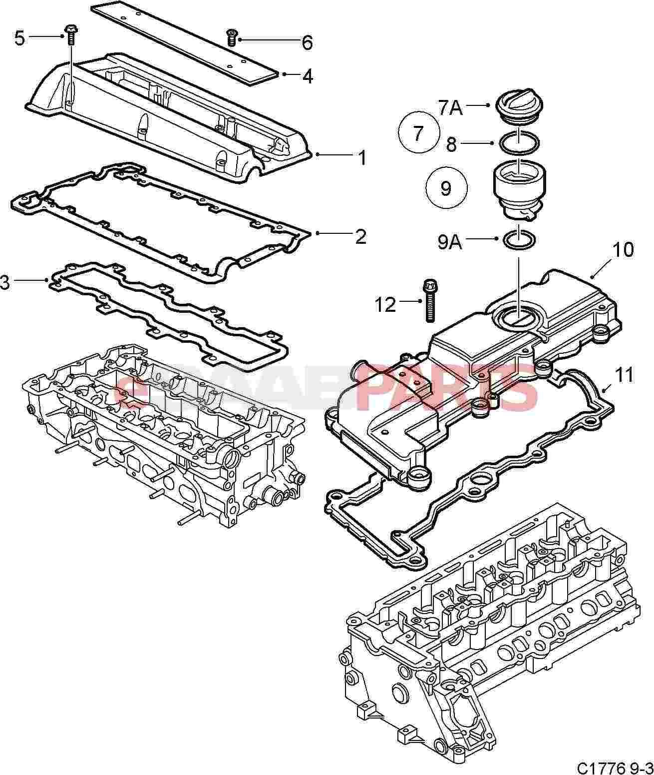 Saab Valve Cover Gasket Kit