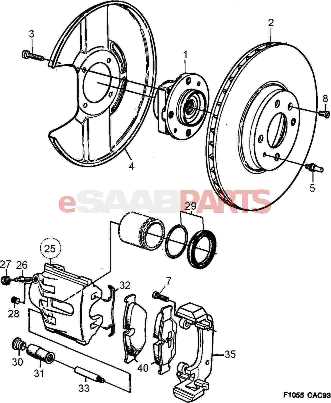 Saab Wheel Hub