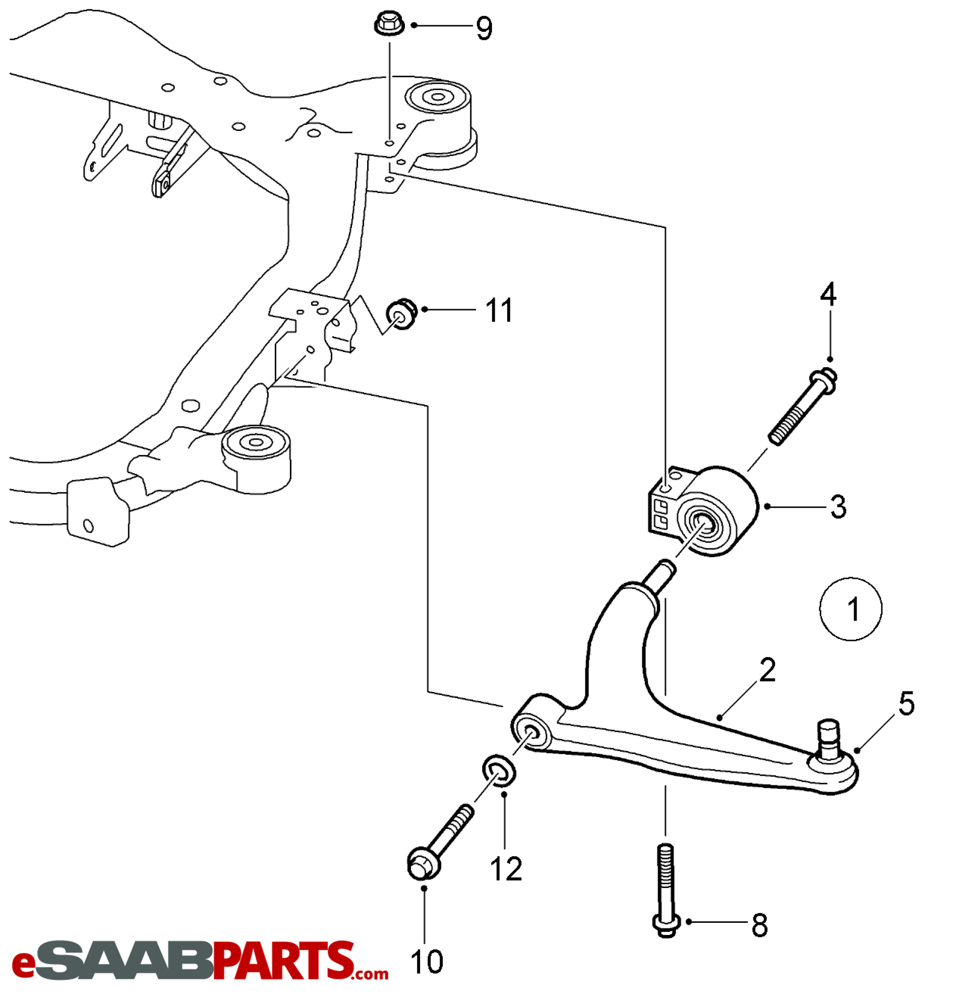 Saab Lower Control Arm