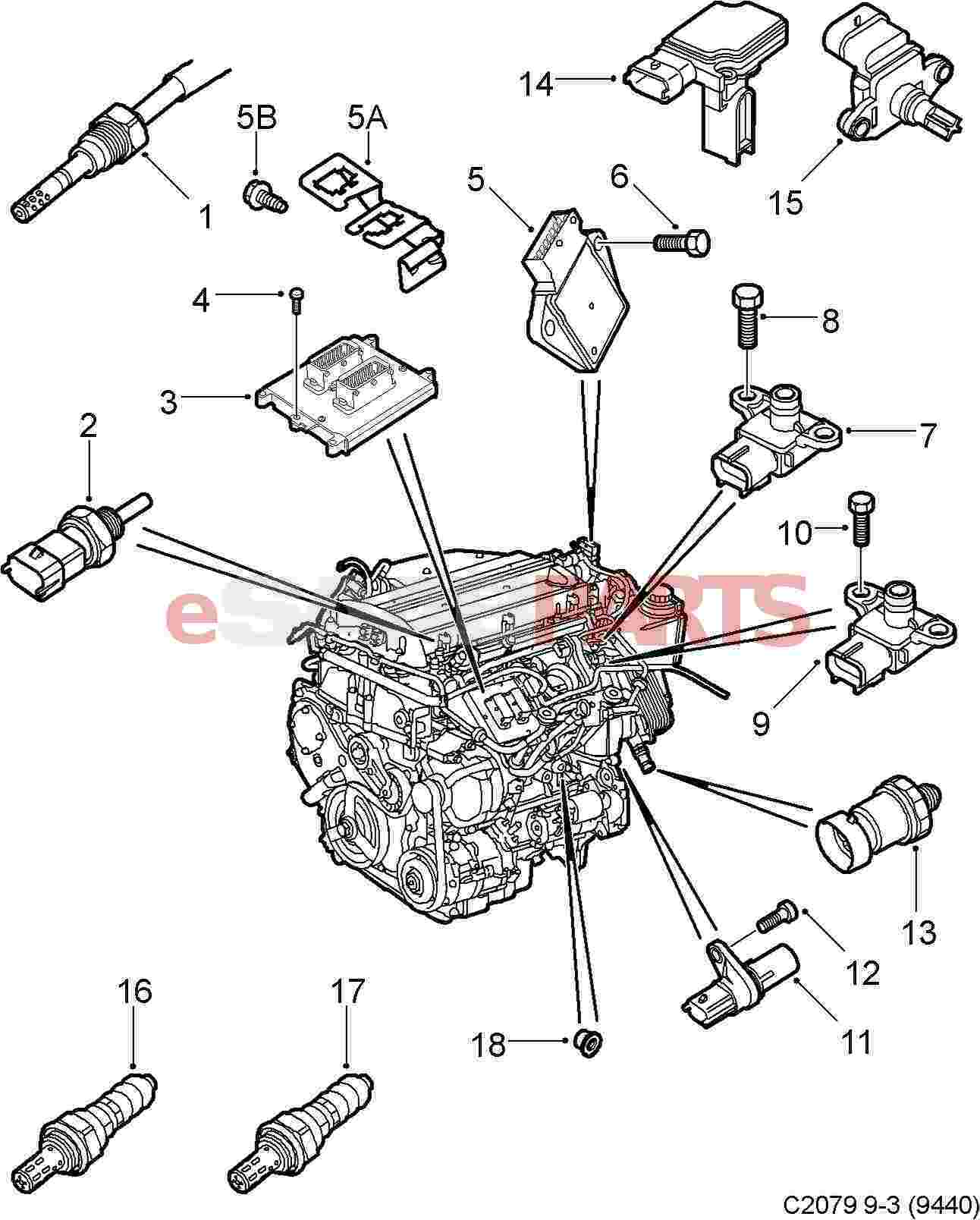 Fuses Diagram Saab 9 3 Turbo