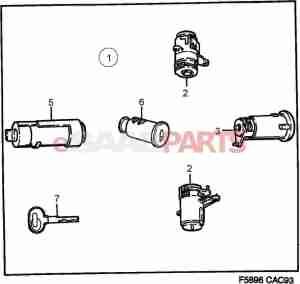 [8960221] SAAB Lock Cylinder  Genuine Saab Parts from