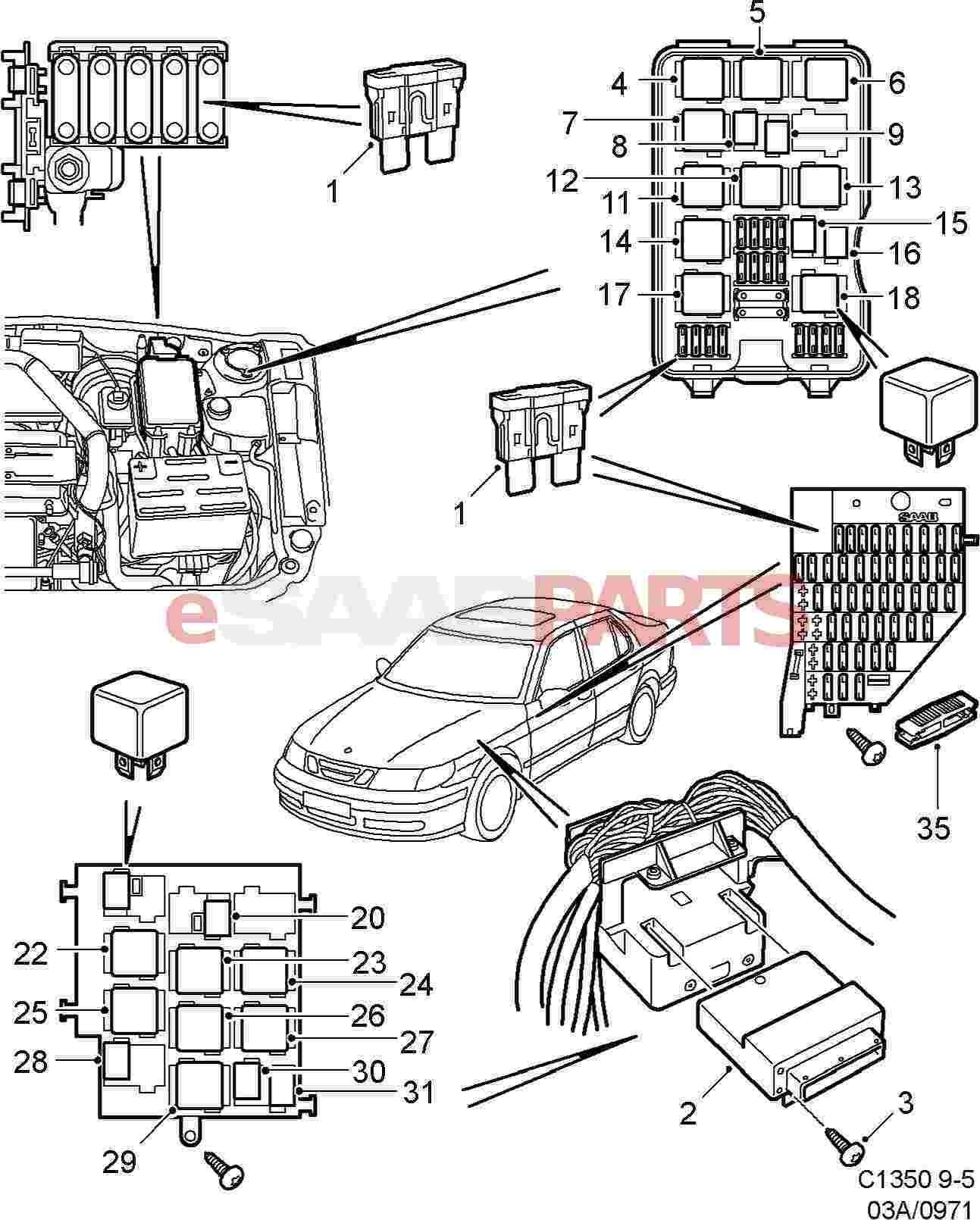 Saab 9000 Headlight Wiring Diagram