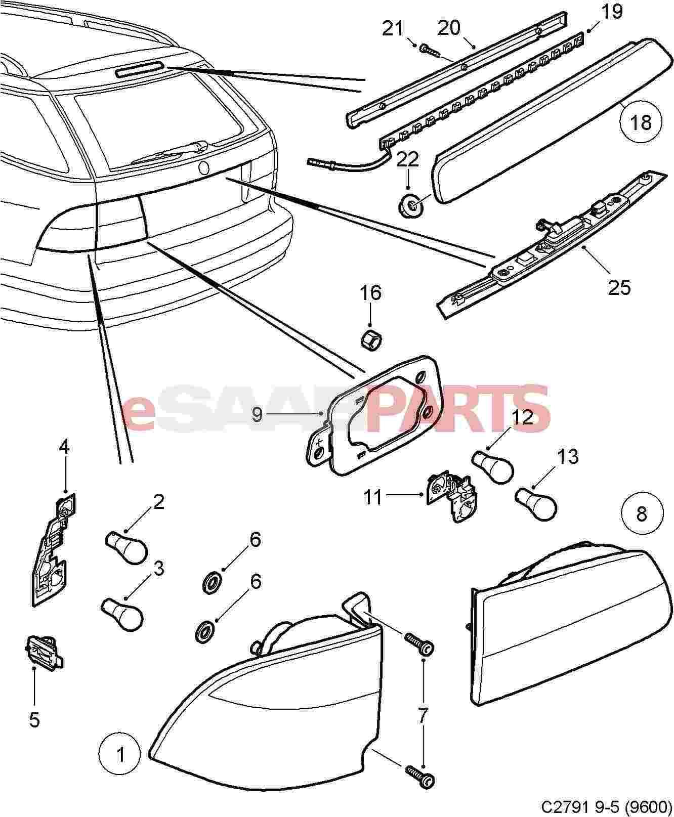 Saab Headlight Wiring