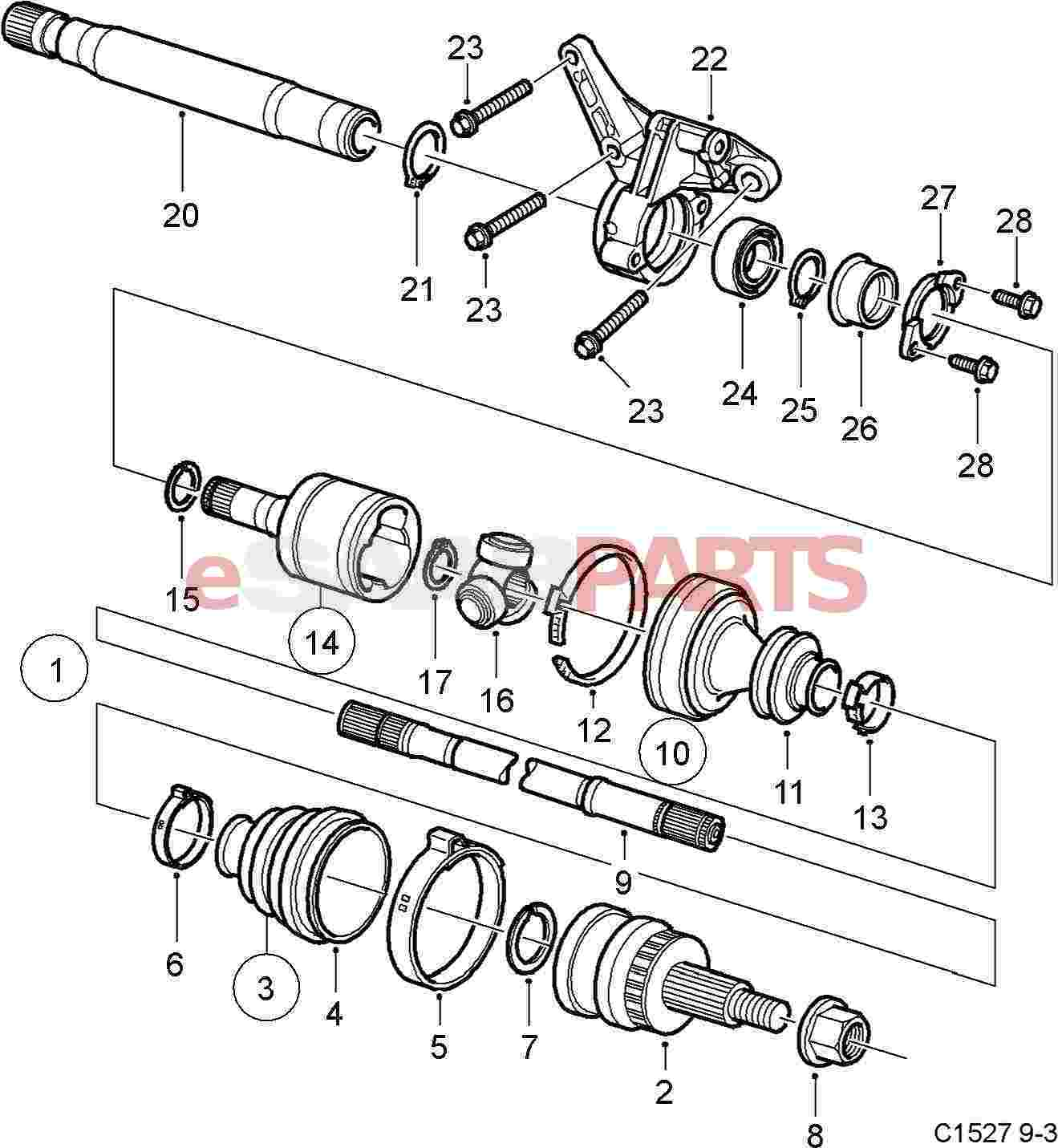 Front Axle Diagram