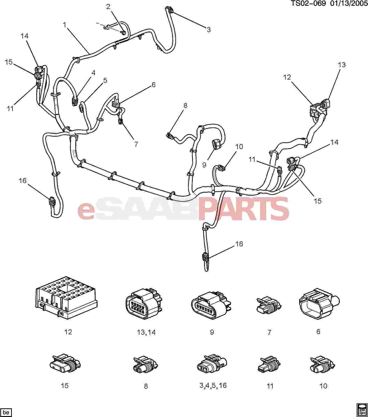 Saab 9 3 Wiring Harness