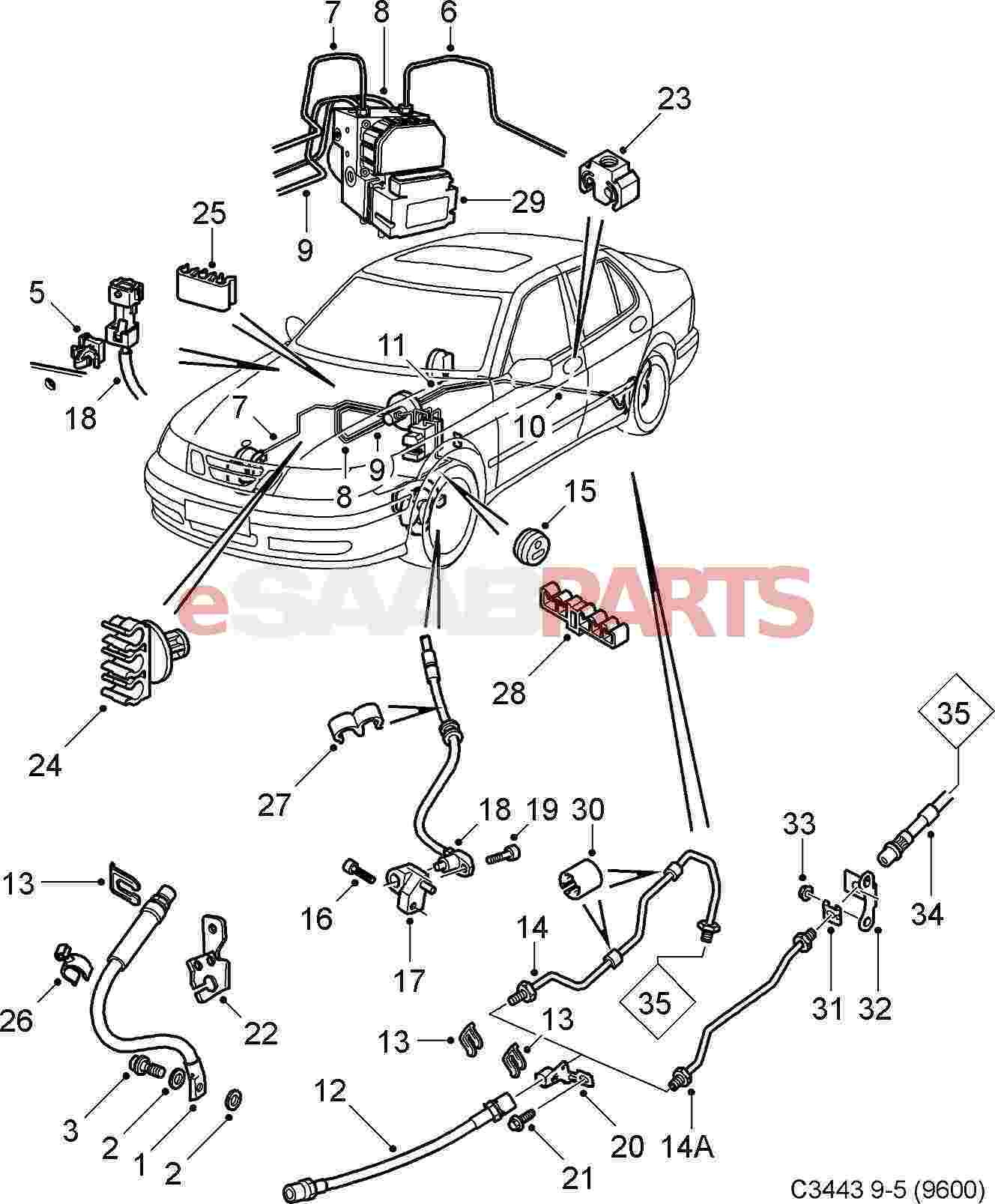 Saab 9 5 Exhaust System Diagram