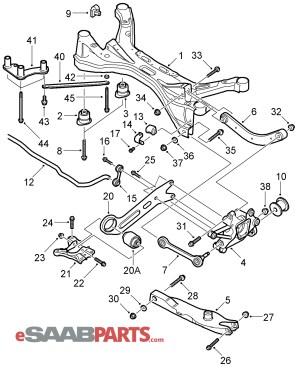[13230274] SAAB Control Arm, Upper  Genuine Saab Parts