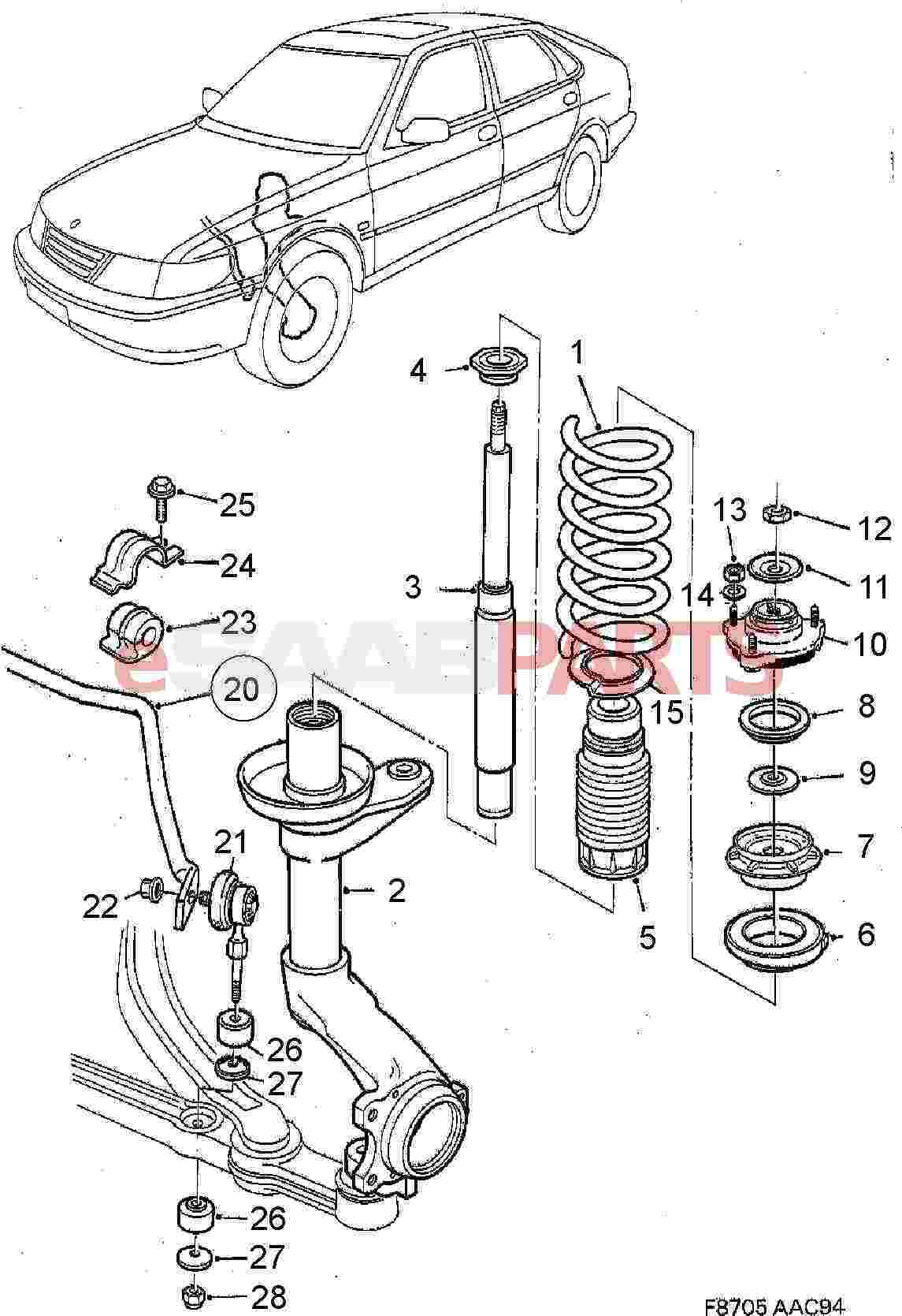 Saab Stabilizer Bar