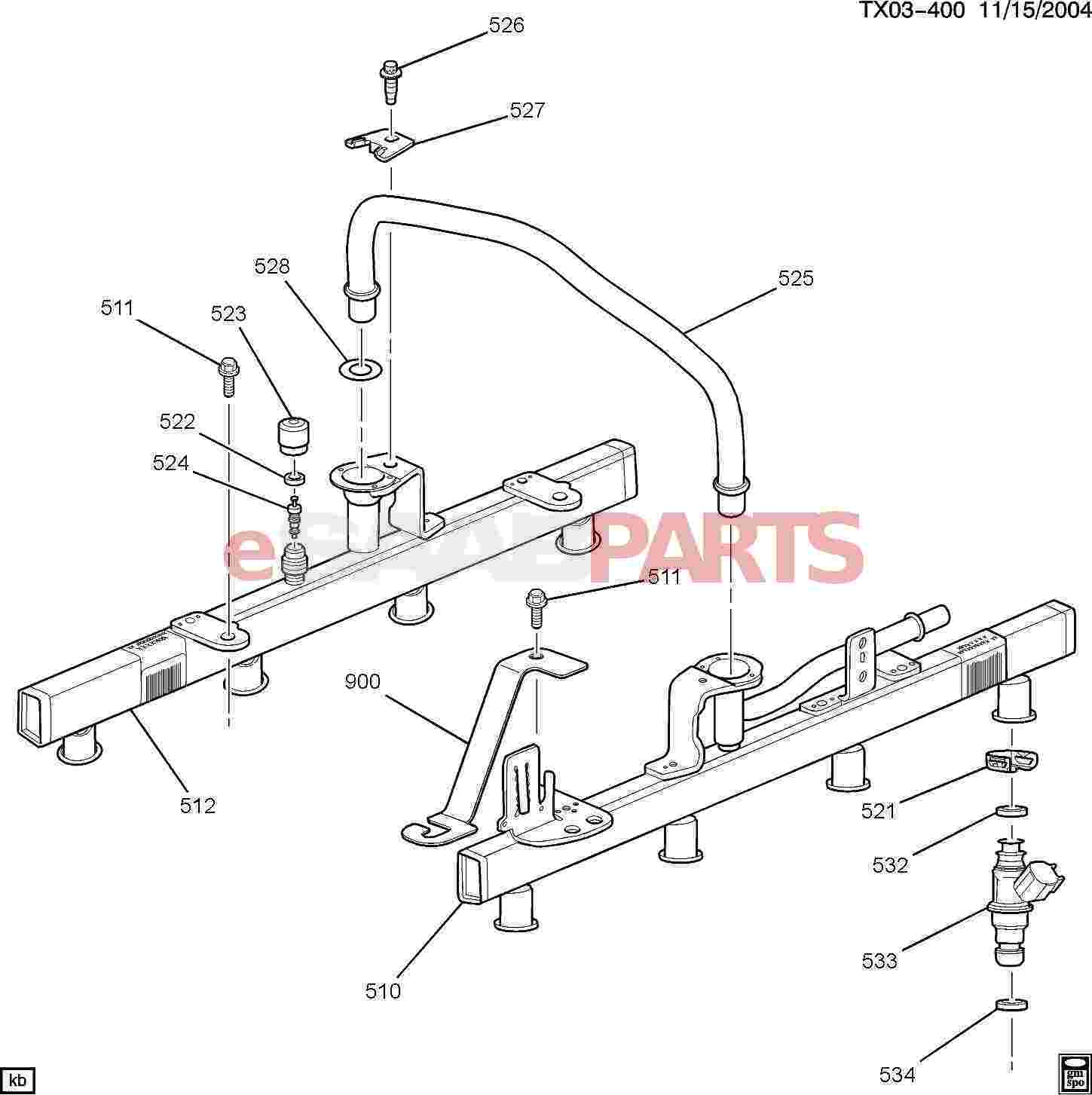 Saab Retainer Kit Fuel Injection Fuel Rail