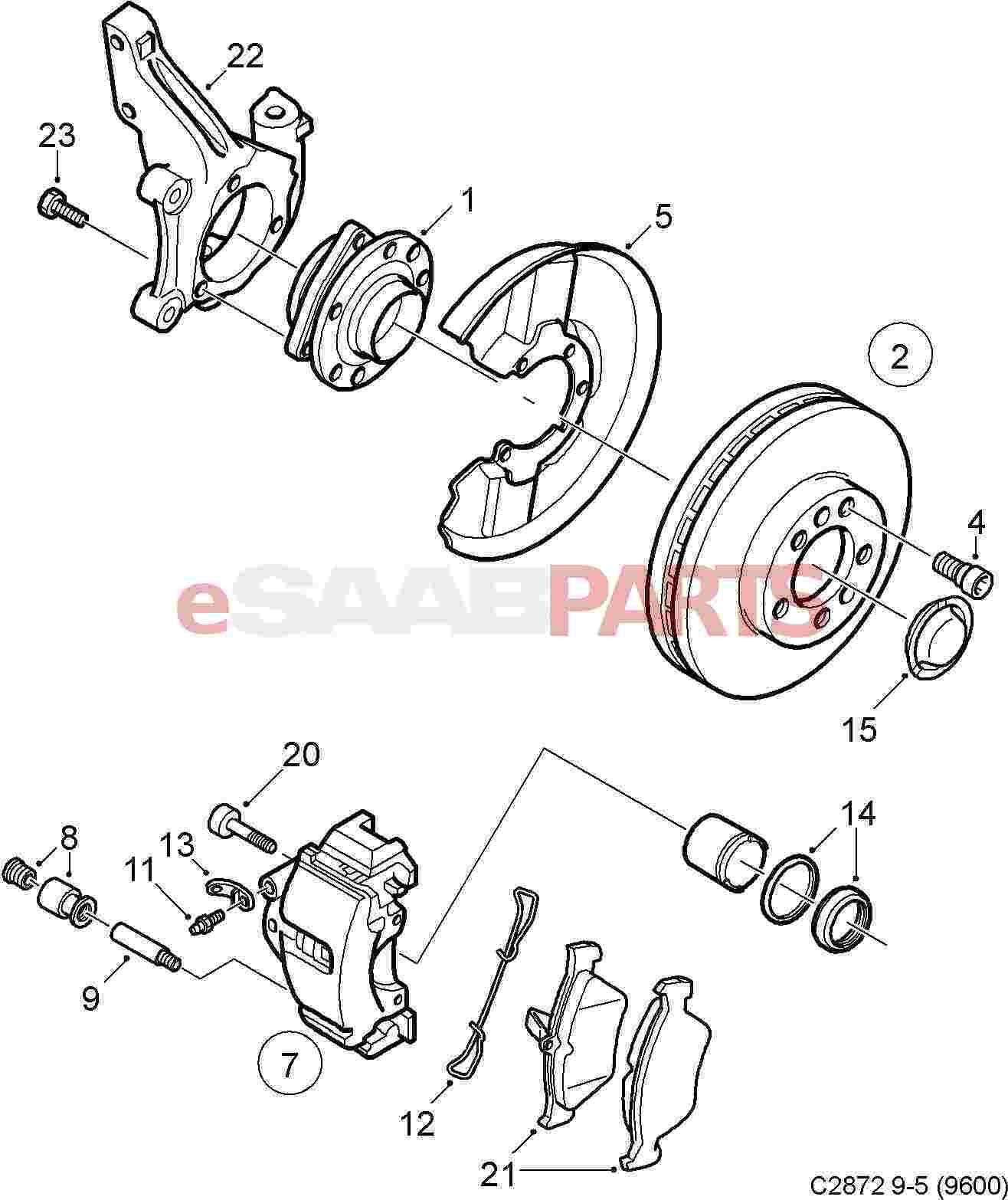 Saab Brake Disc