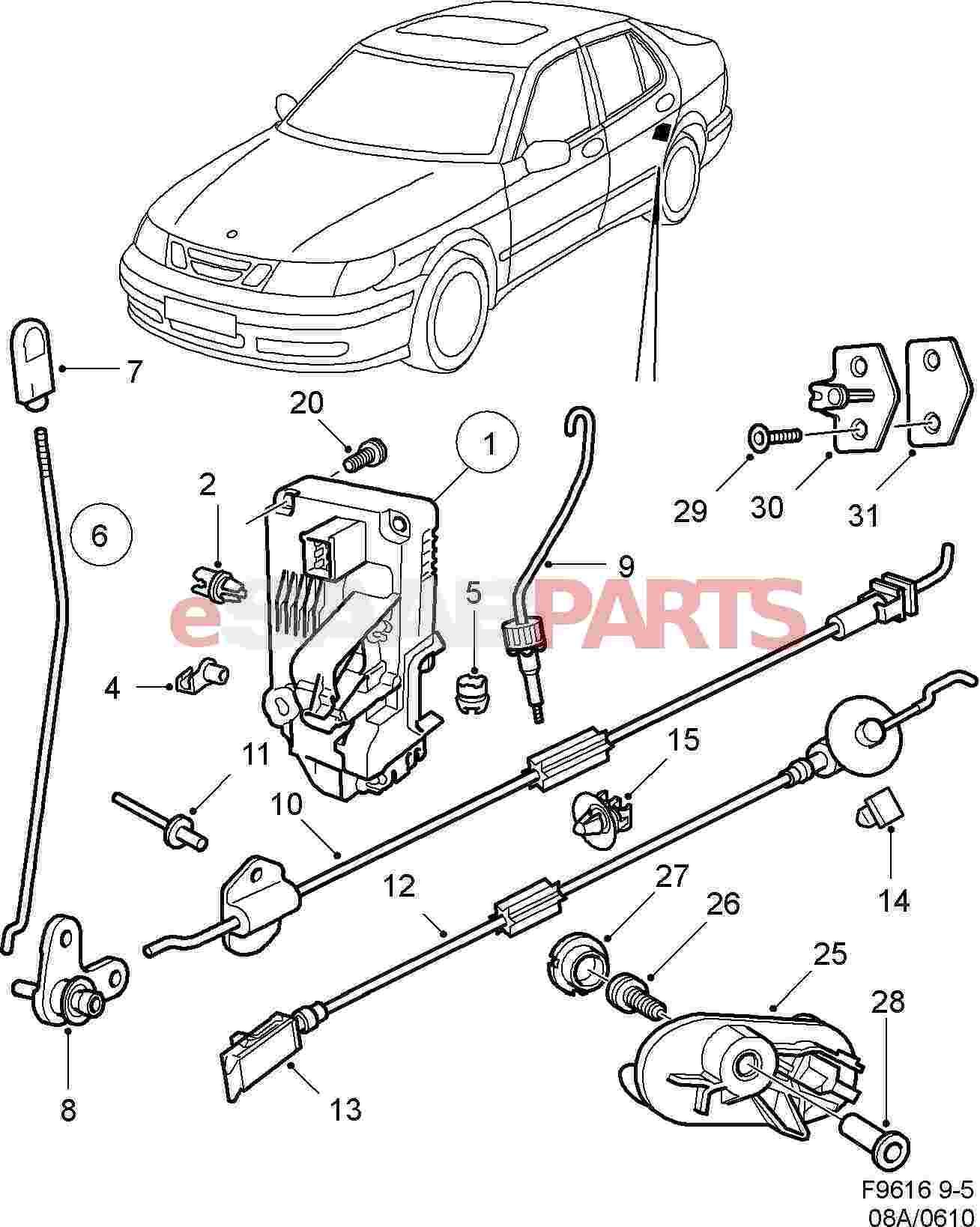Saab Screw Cover