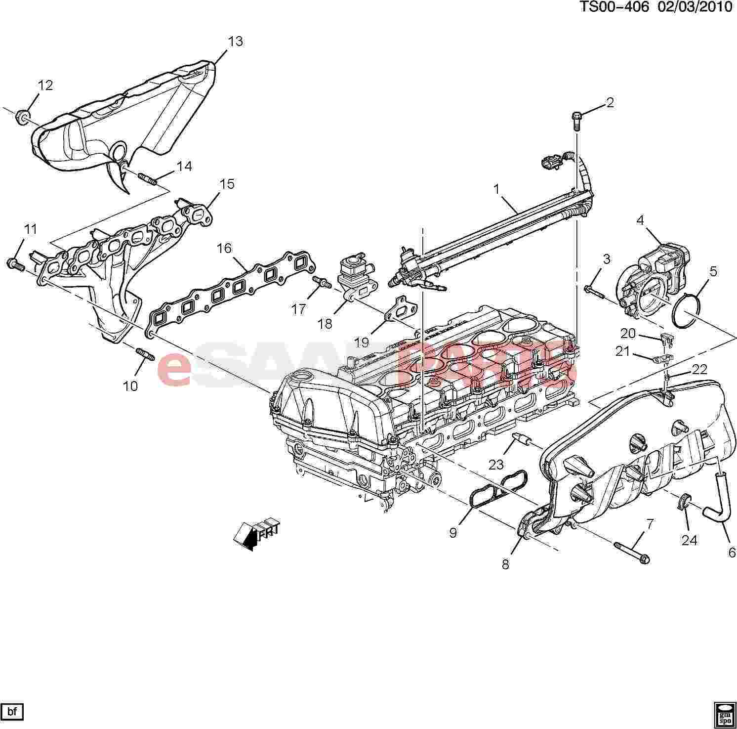 Saab Seal Manifold Absolute Pressure Sensor
