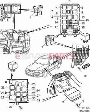 Saab 9 3 Fuse Layout  Wiring Diagram And Fuse Box