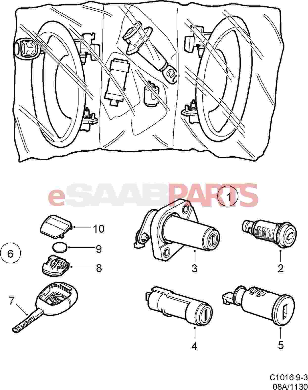 Saab Key Blank