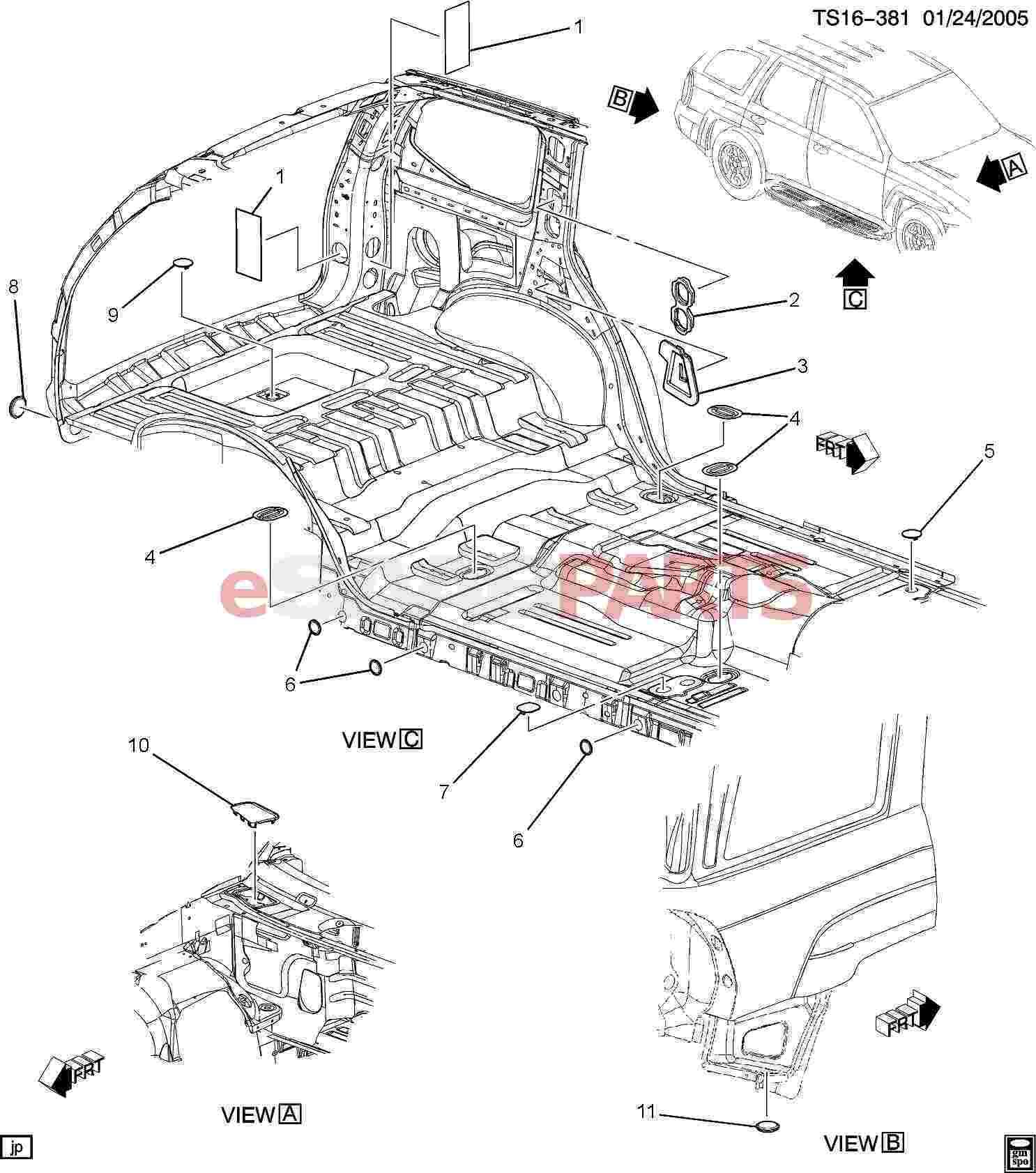 Saab Insulator Body Rear Inner Panel
