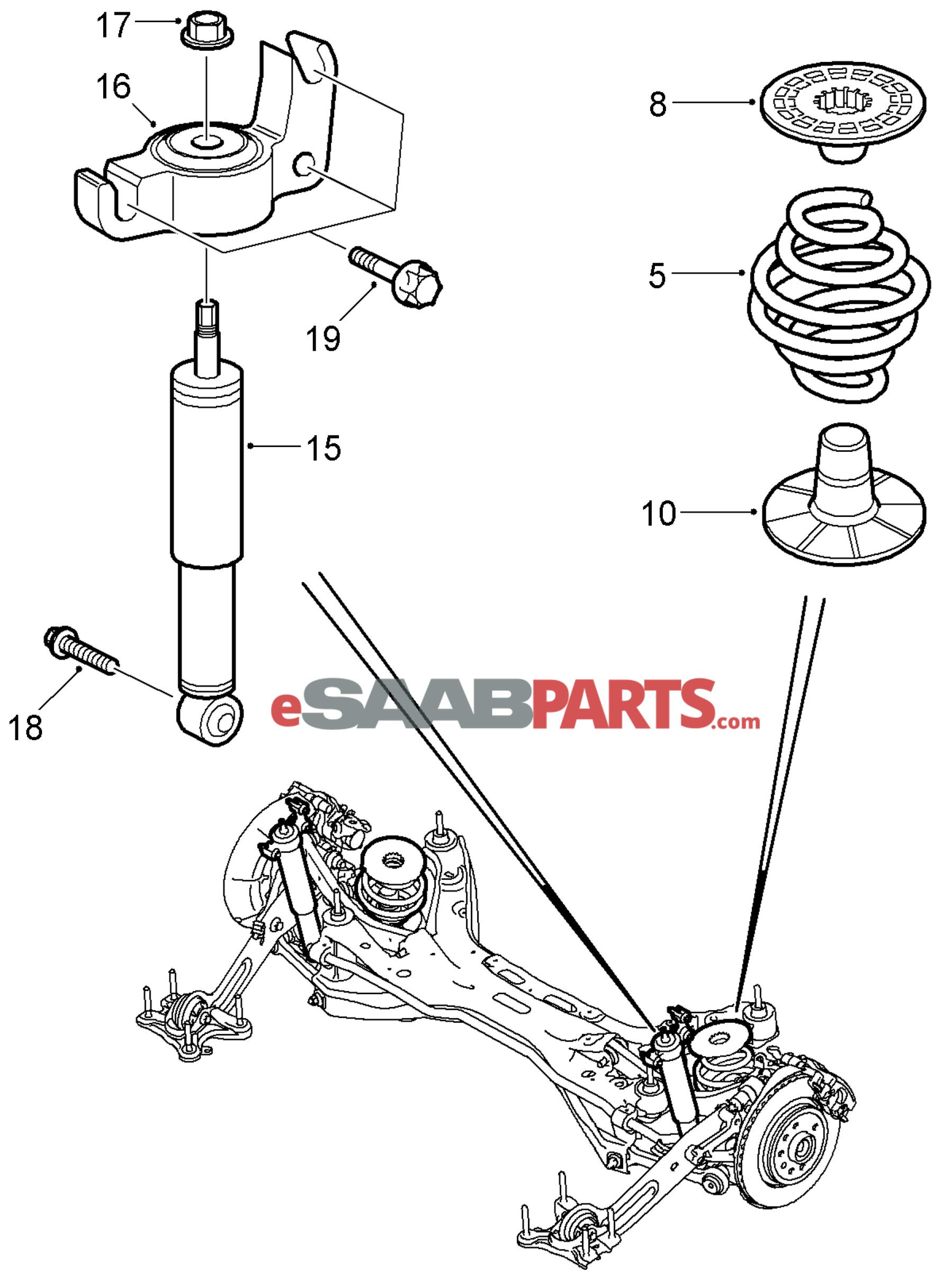 Saab Rear Spring Code 11