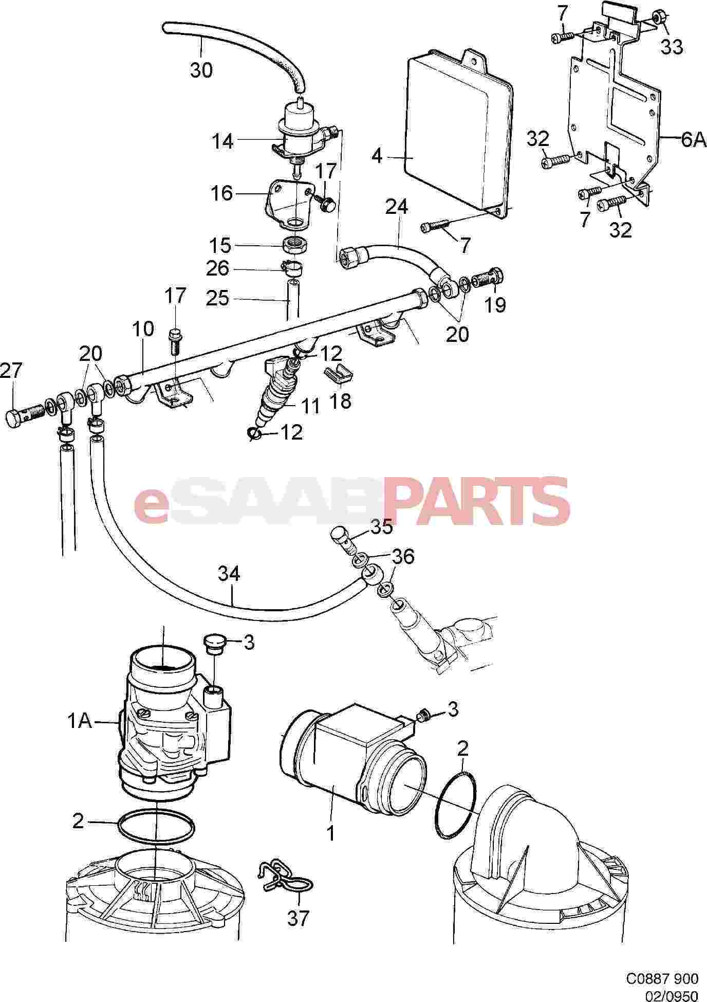 Saab Mass Air Flow Sensor