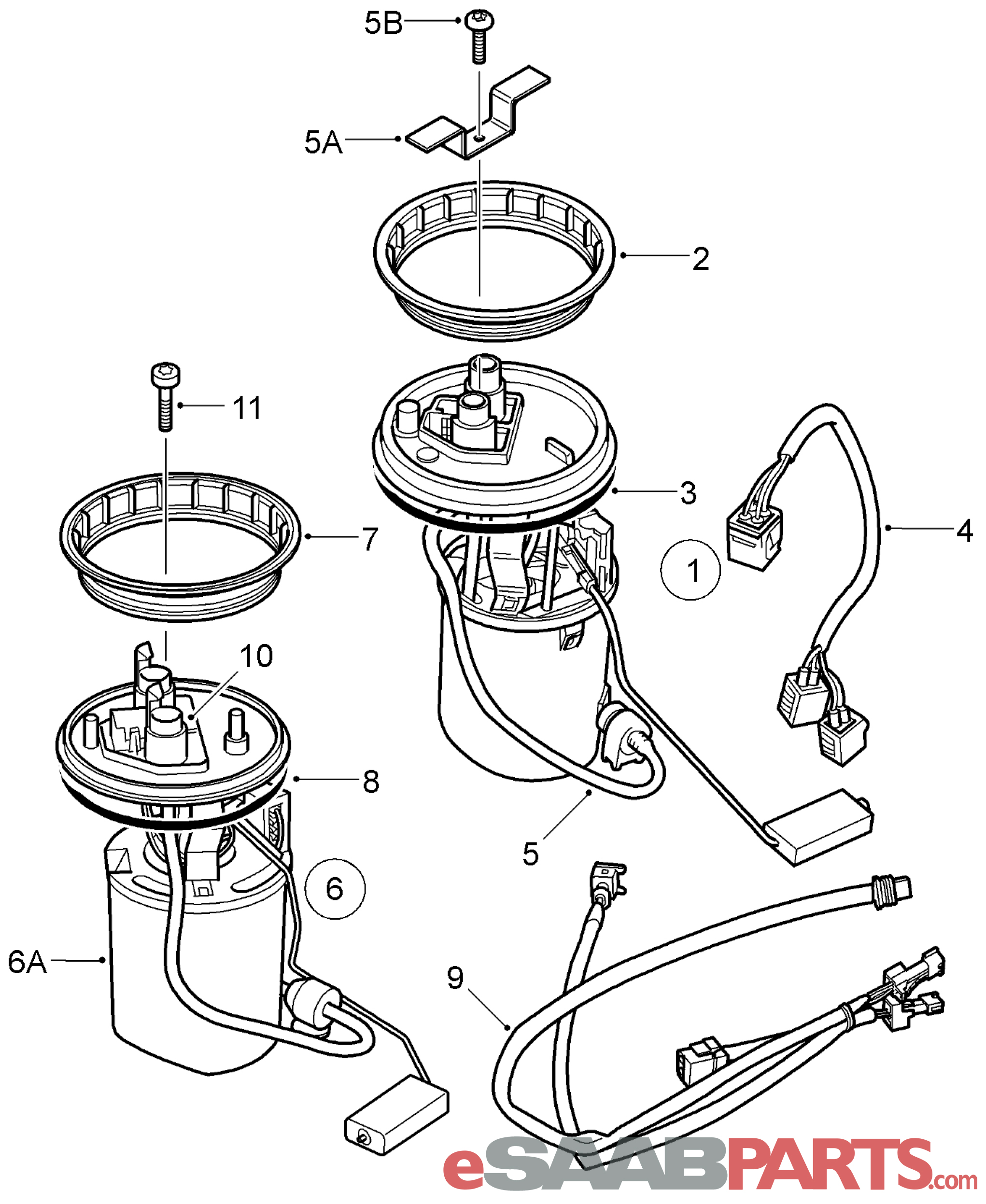 Saab Fuel Pump 9 5