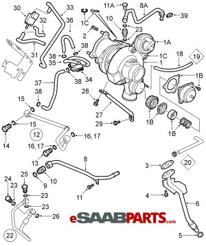 [12787706] SAAB Boost Pressure Control Valve  Genuine Saab Parts from eSaabParts