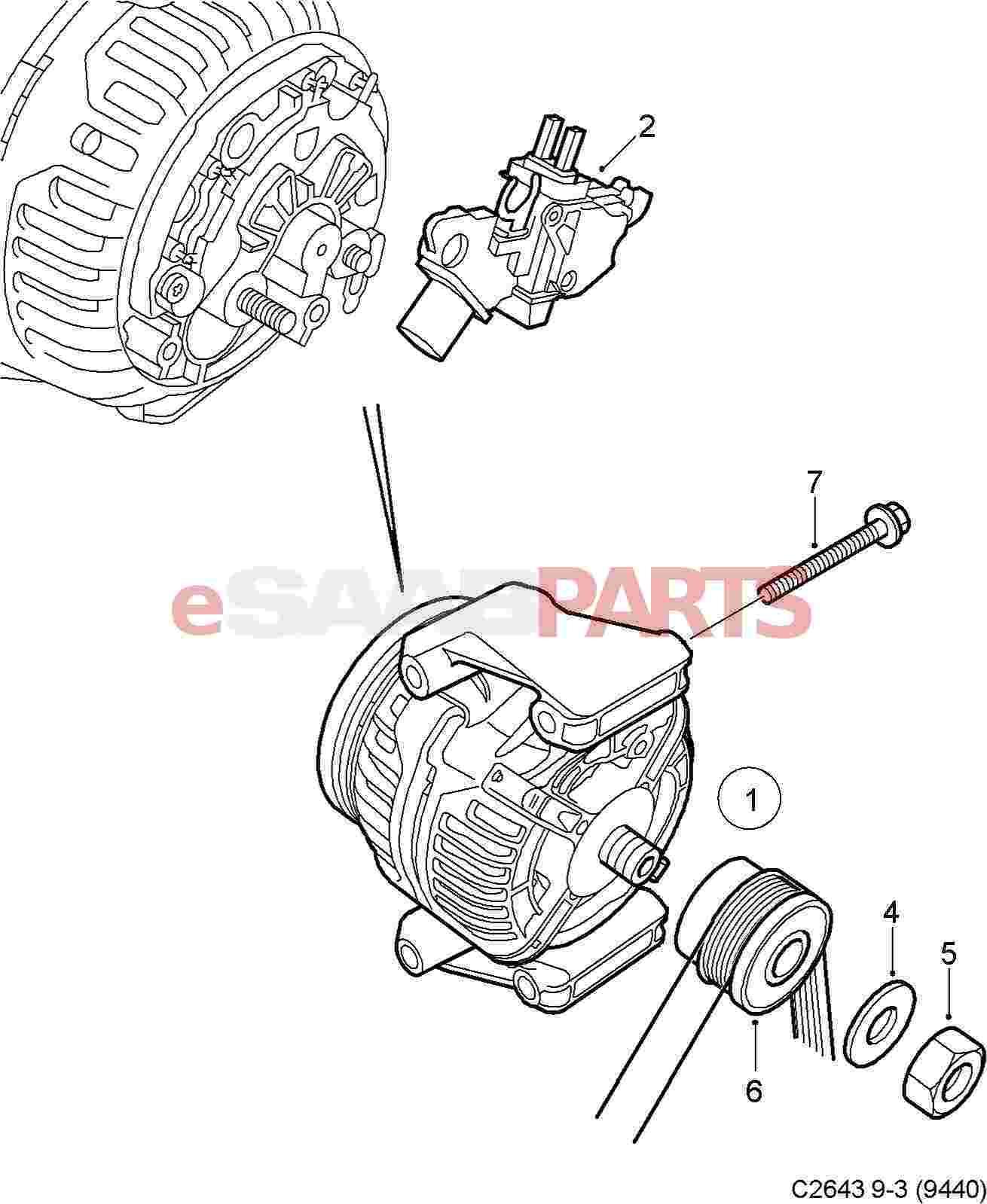 Saab Alternator Wiring Diagram