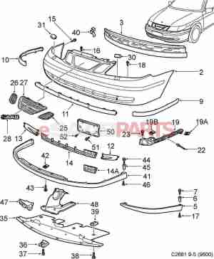 [5491535] SAAB Front Lip Spoiler  Aero  Sports Kit (95
