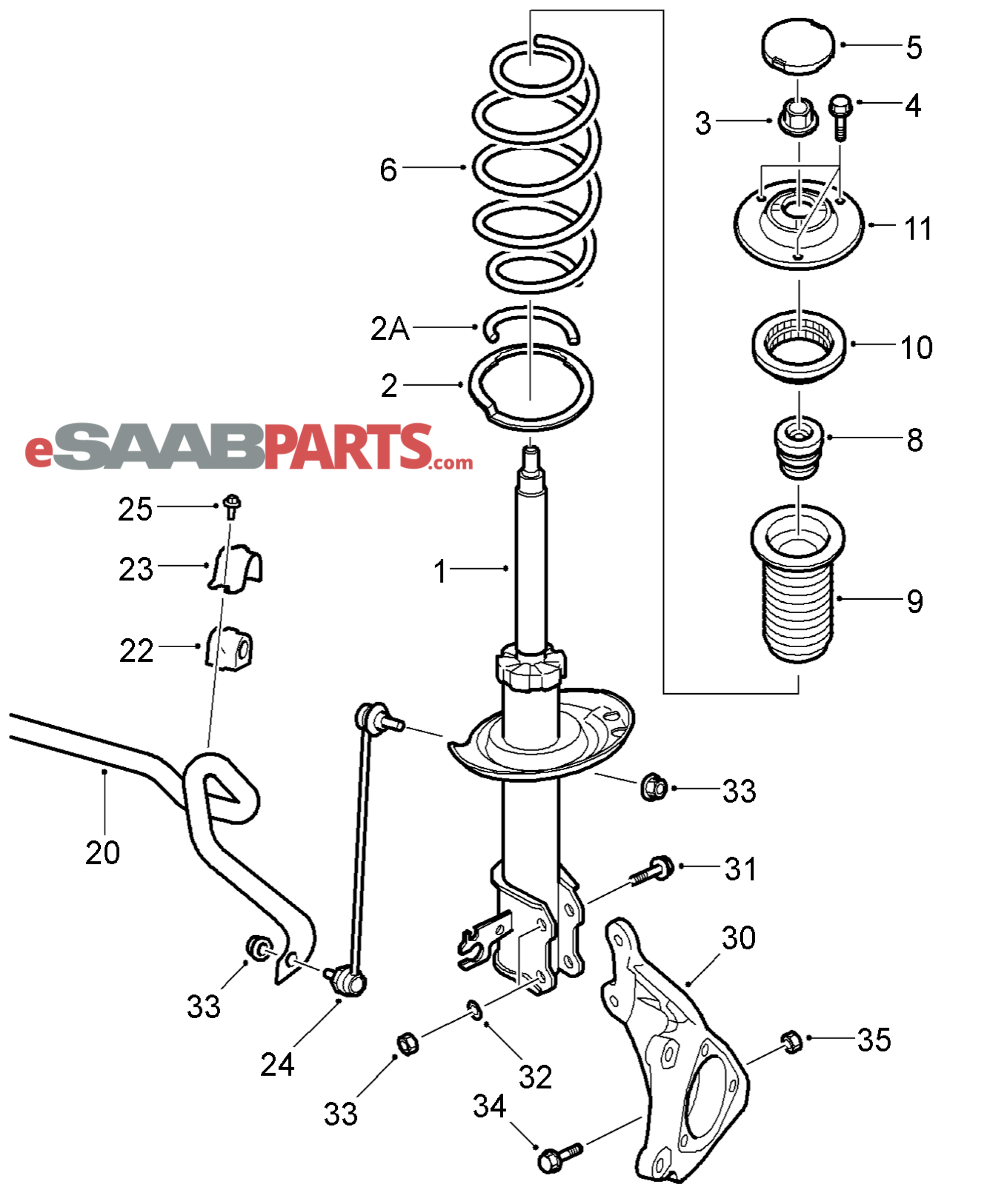 Saab Sway Bar End Link