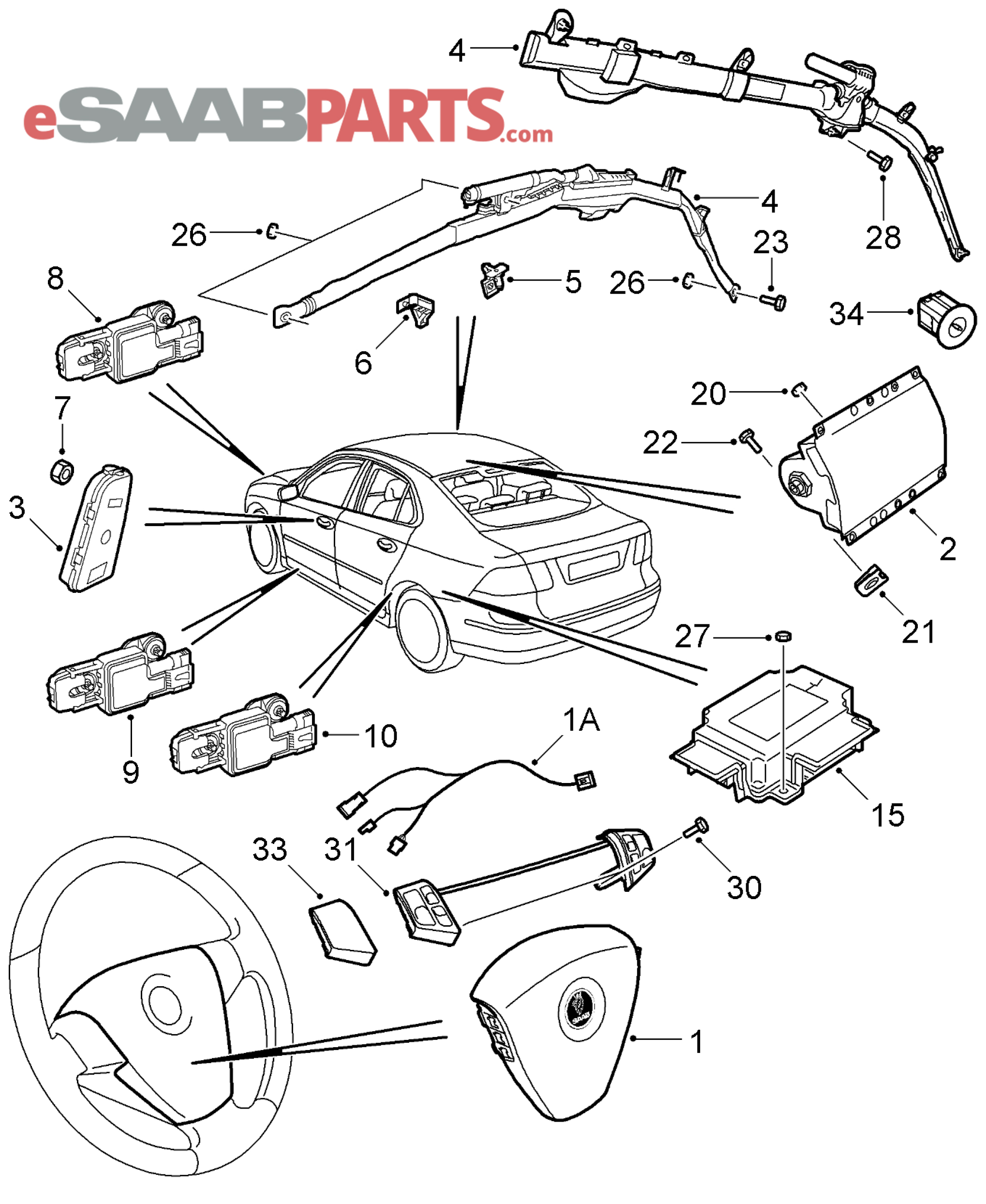 Saab 93 Airbag Wiring Diagram