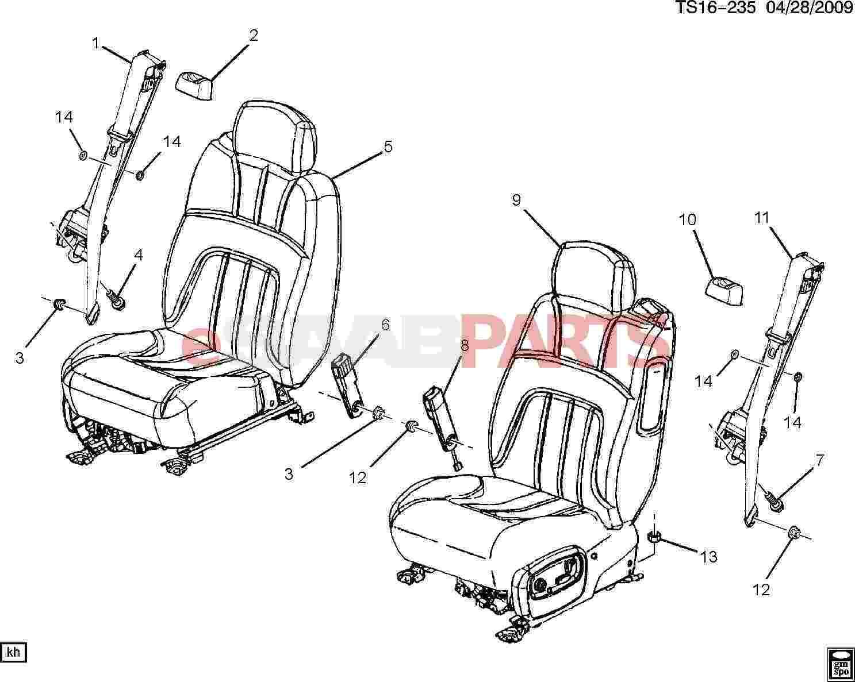Saab Belt Kit P Seat