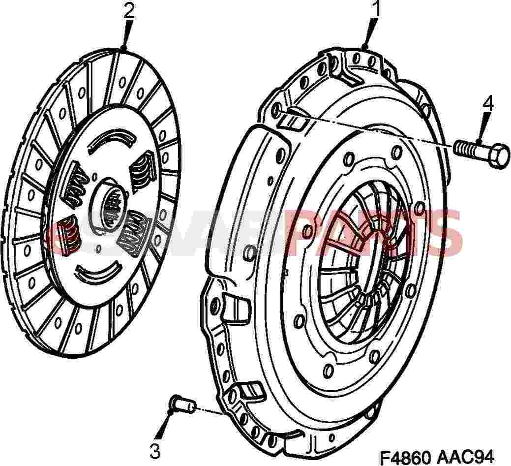 Saab Clutch Kit B204r B205r