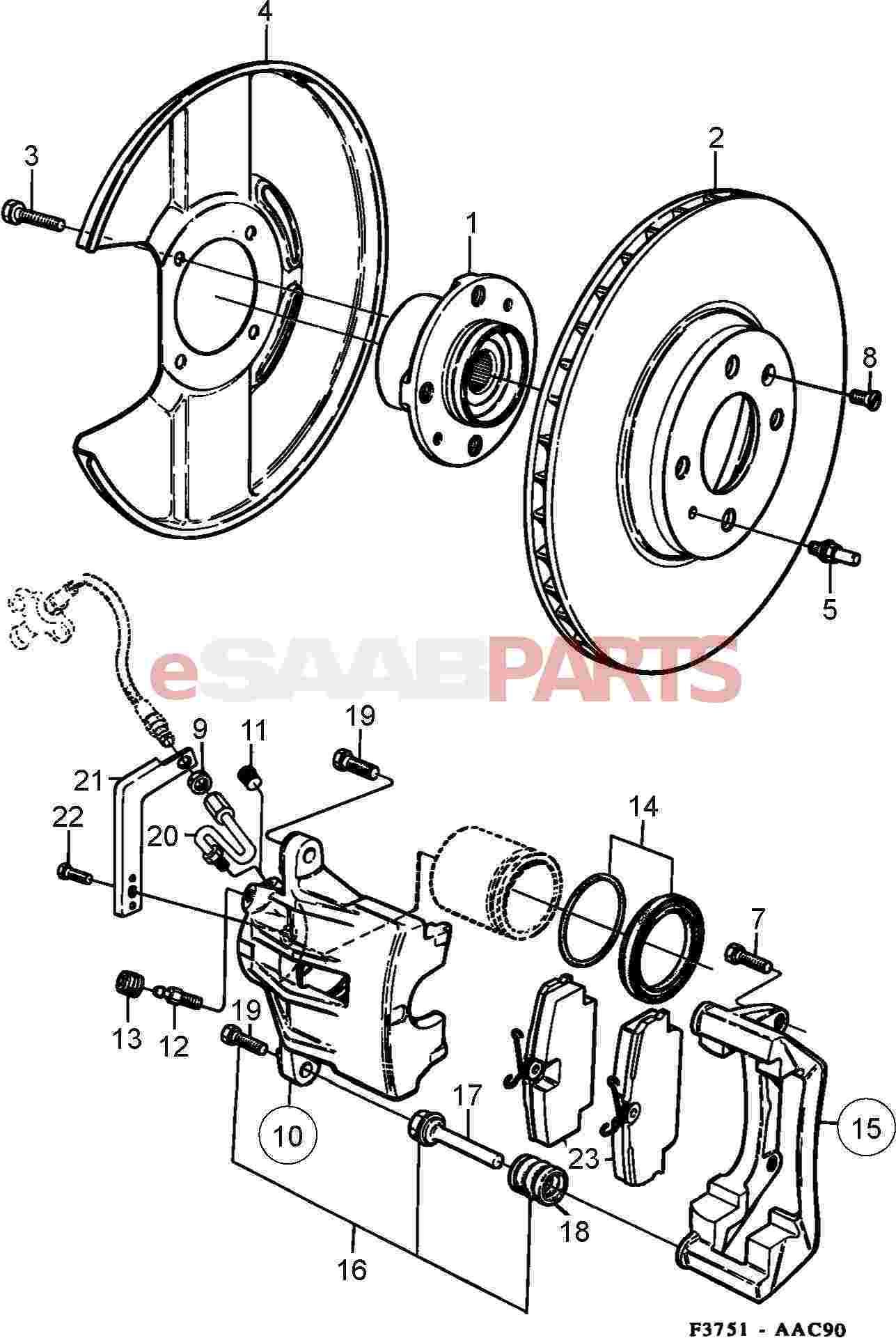 Saab Brake Rotor