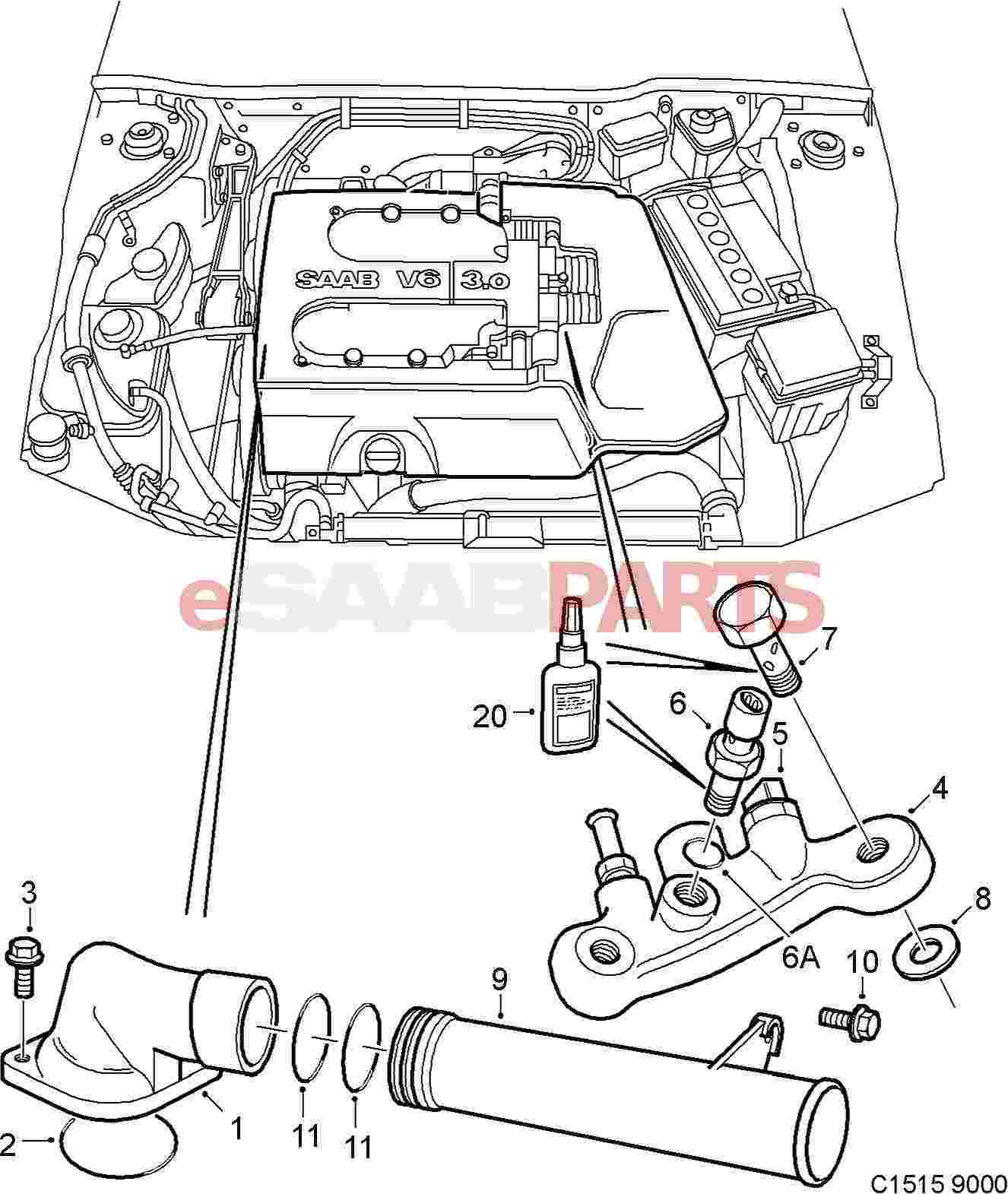 Saab Engine Coolant Temperature Sensor