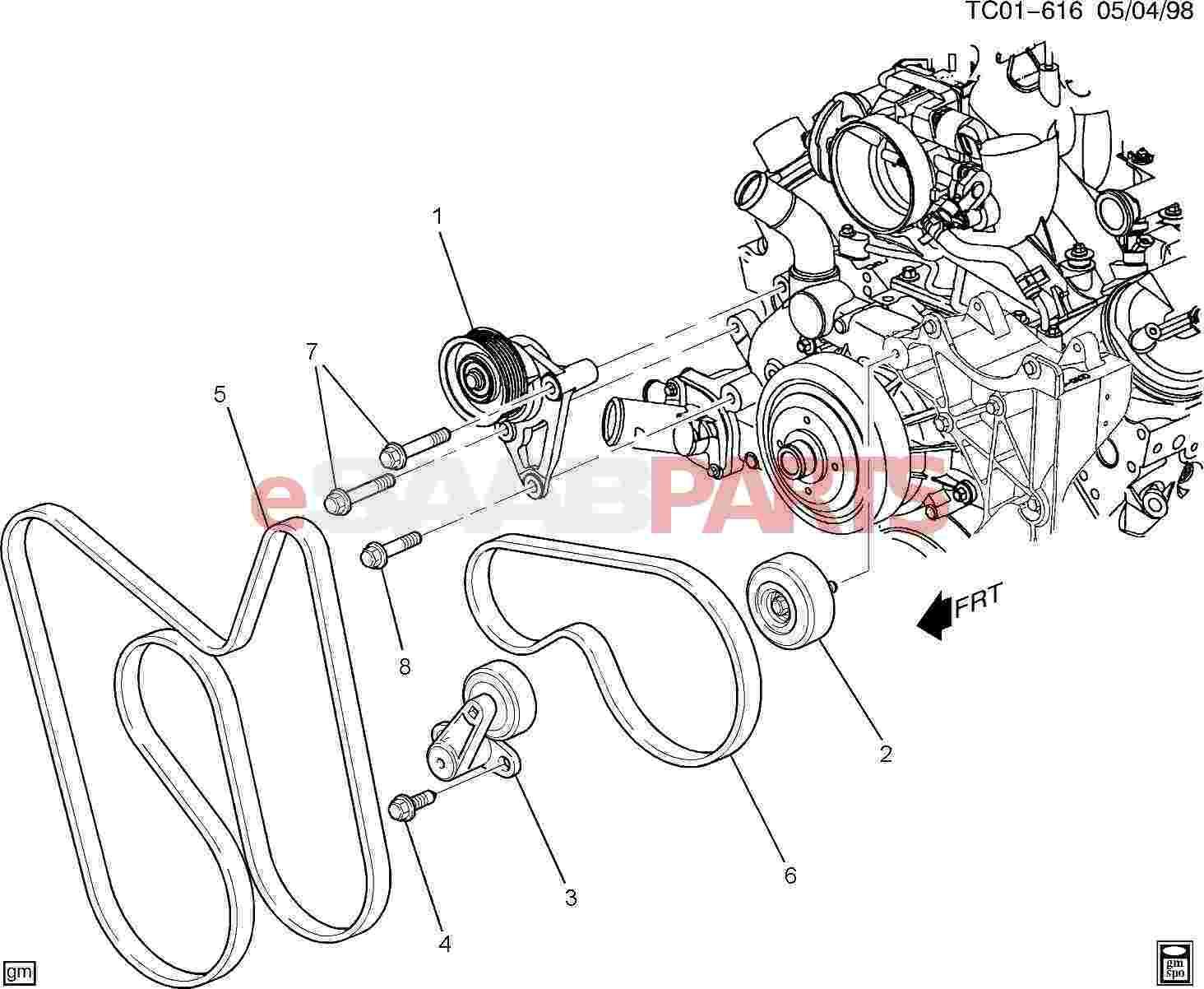 Saab Tensioner Ac Compressor Belt