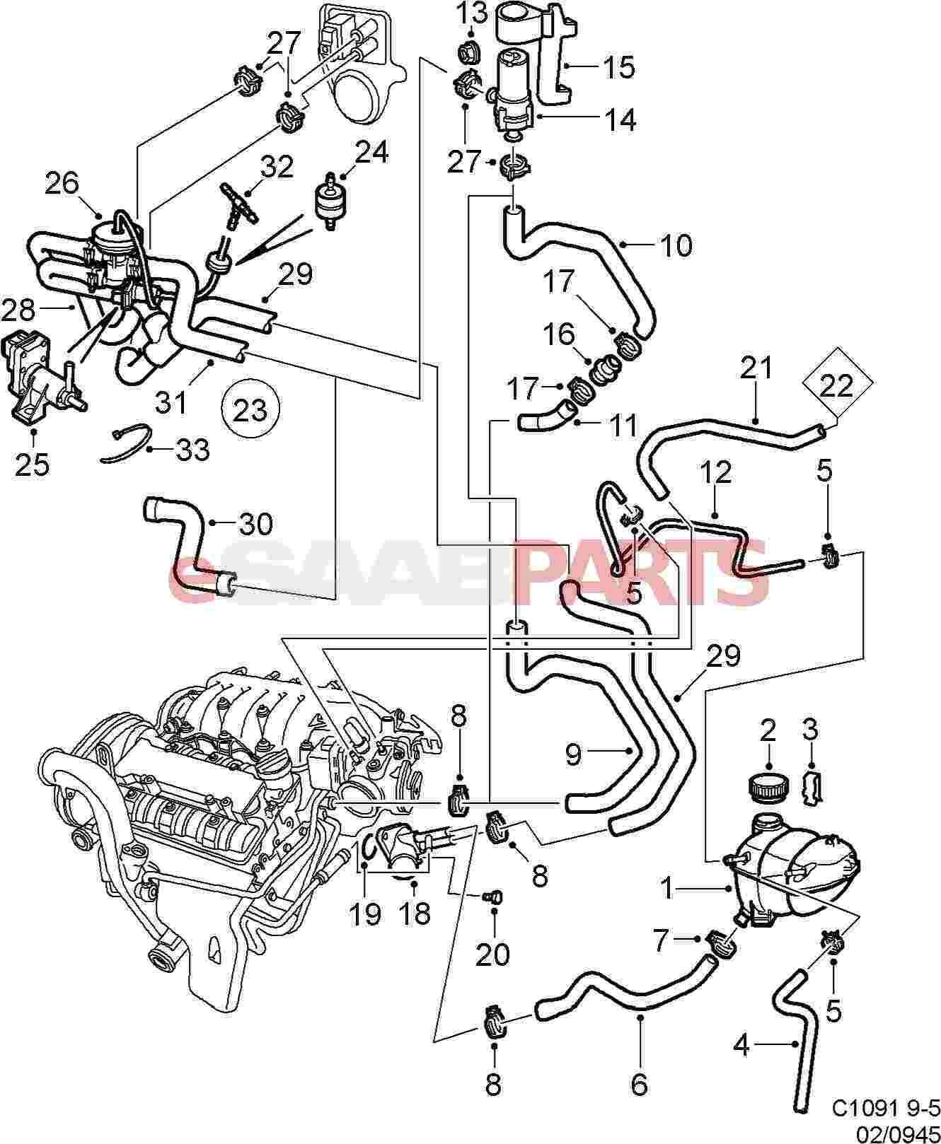 Saab V6 Engine Diagram
