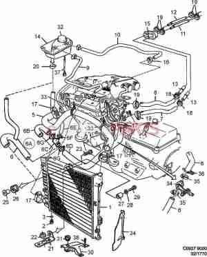 [4360327] SAAB Radiator  Genuine Saab Parts from eSaabParts
