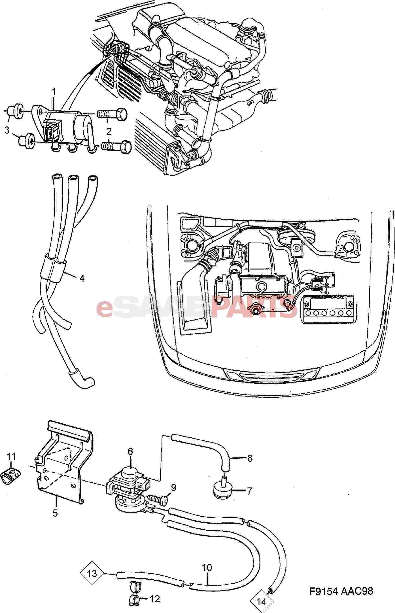 Saab Boost Pressure Control Valve