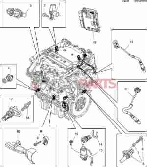 [12674782] SAAB Oil Pressure Sensor (28T V6)  Genuine Saab Parts from eSaabParts