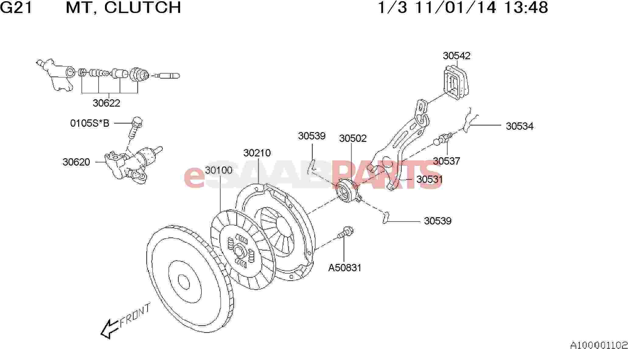 Saab Cylinder Assembly Clutch Operate