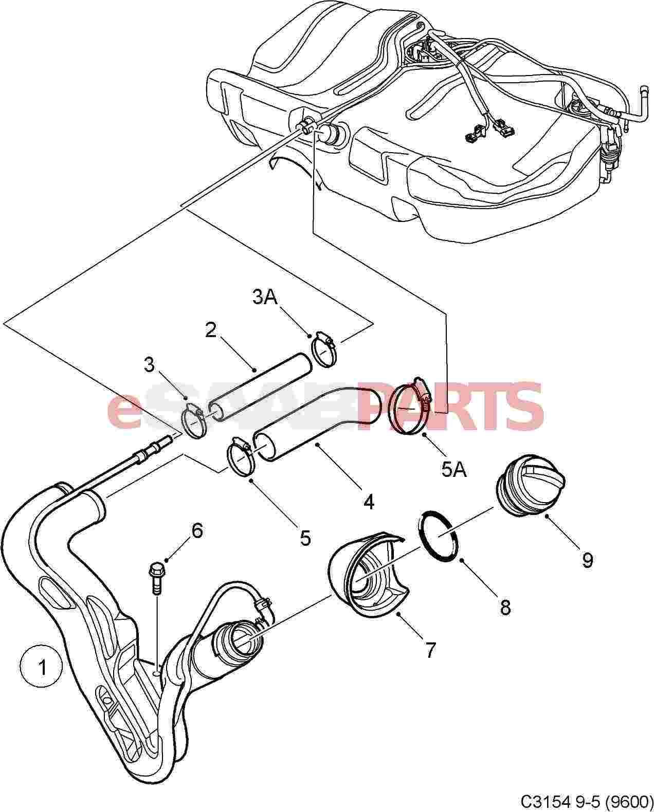Saab Gas Cap Filler Cap