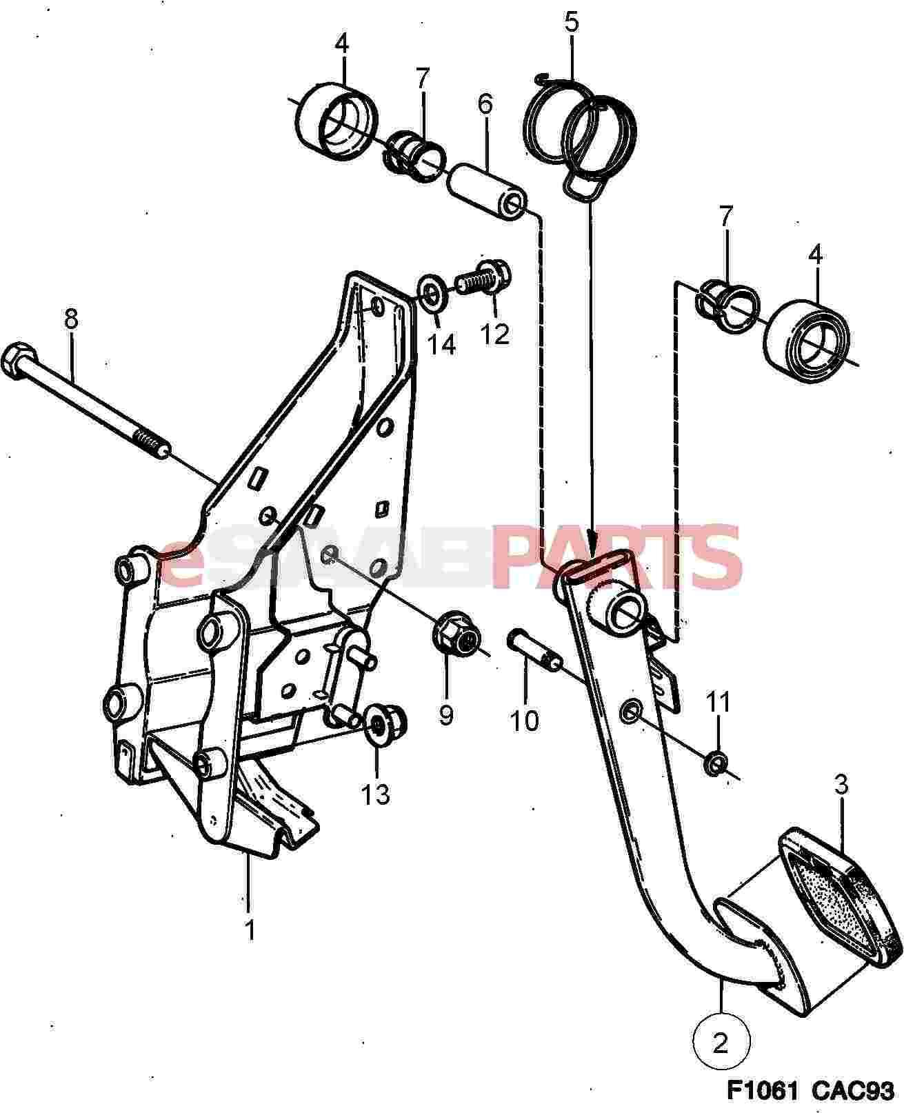 Saab Brake Pedal