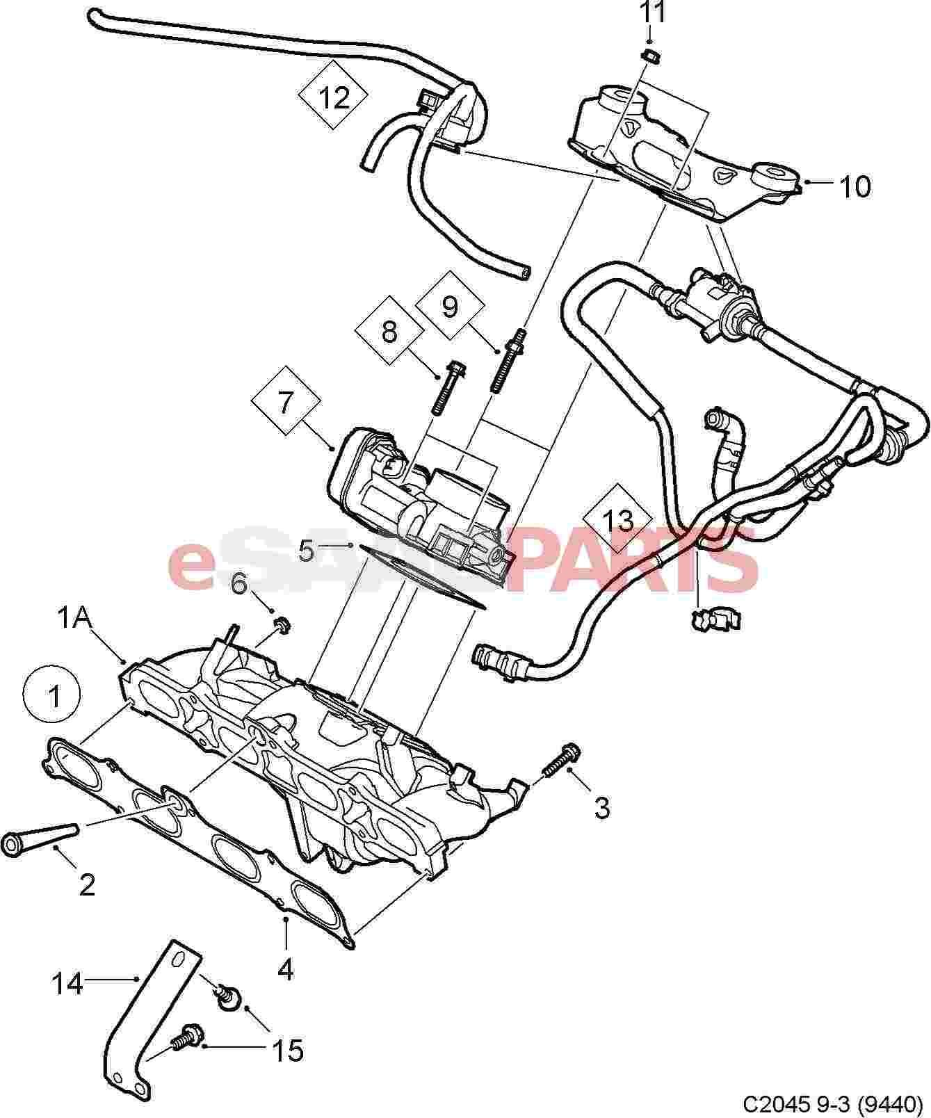 55557180 saab valve genuine saab parts from esaabparts rh esaabparts 2005 saab 9 3 2003 saab 9 3