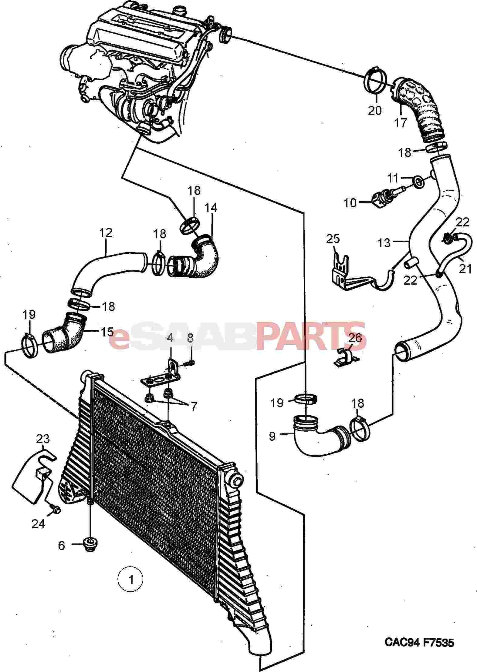 Saab Intake Air Temperature Sensor