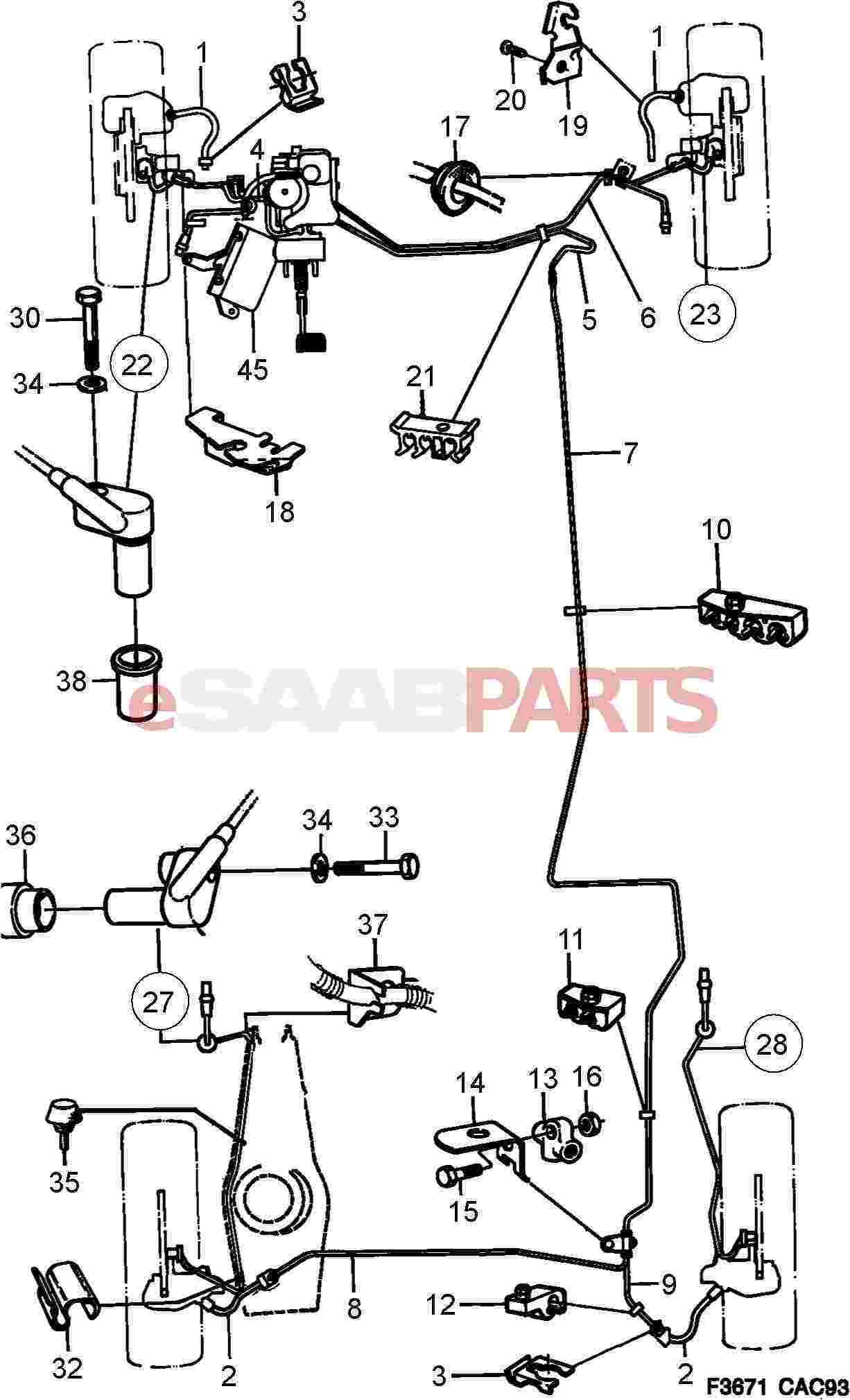 Saab Rubber Plug