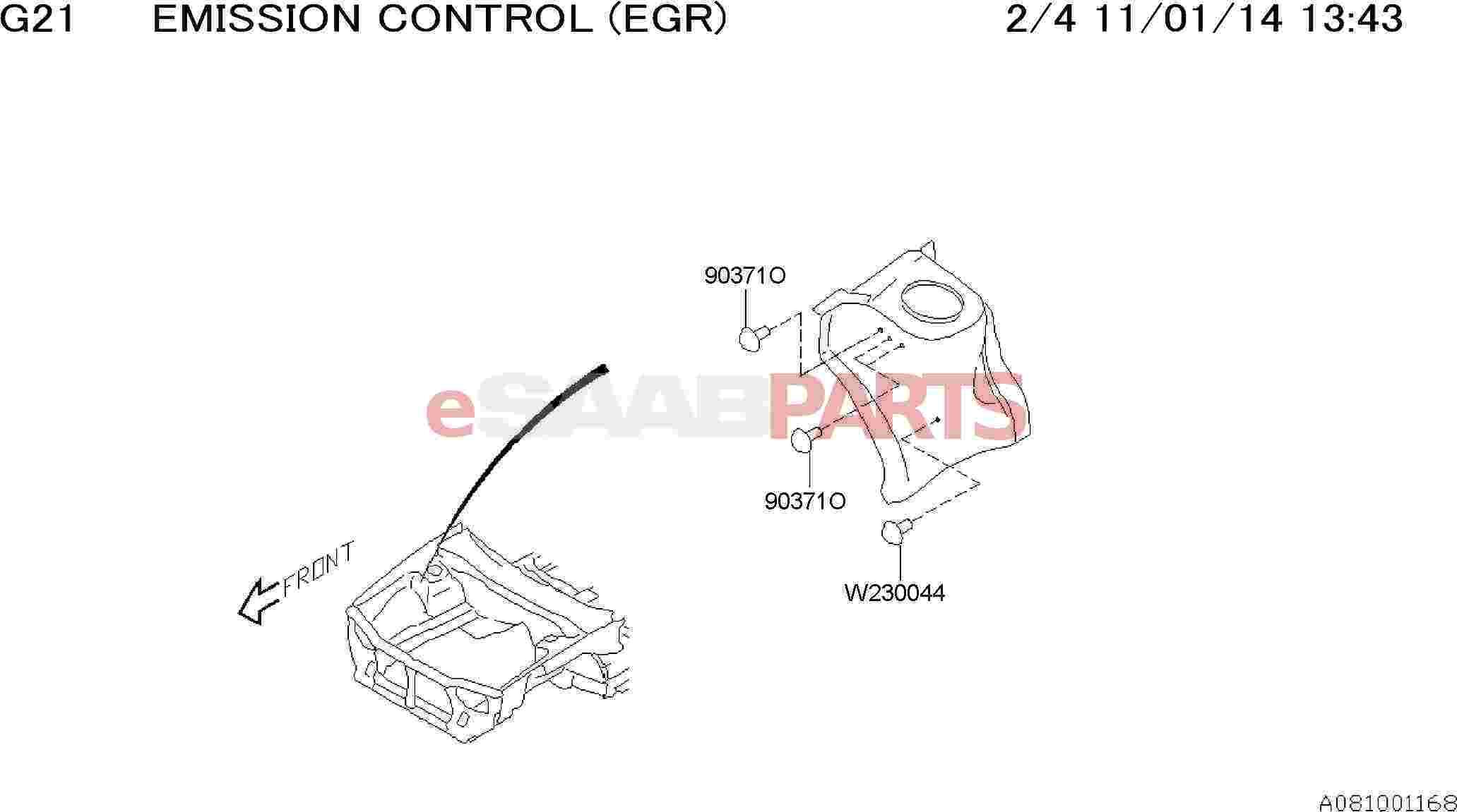 Saab Grommet Sheet D20