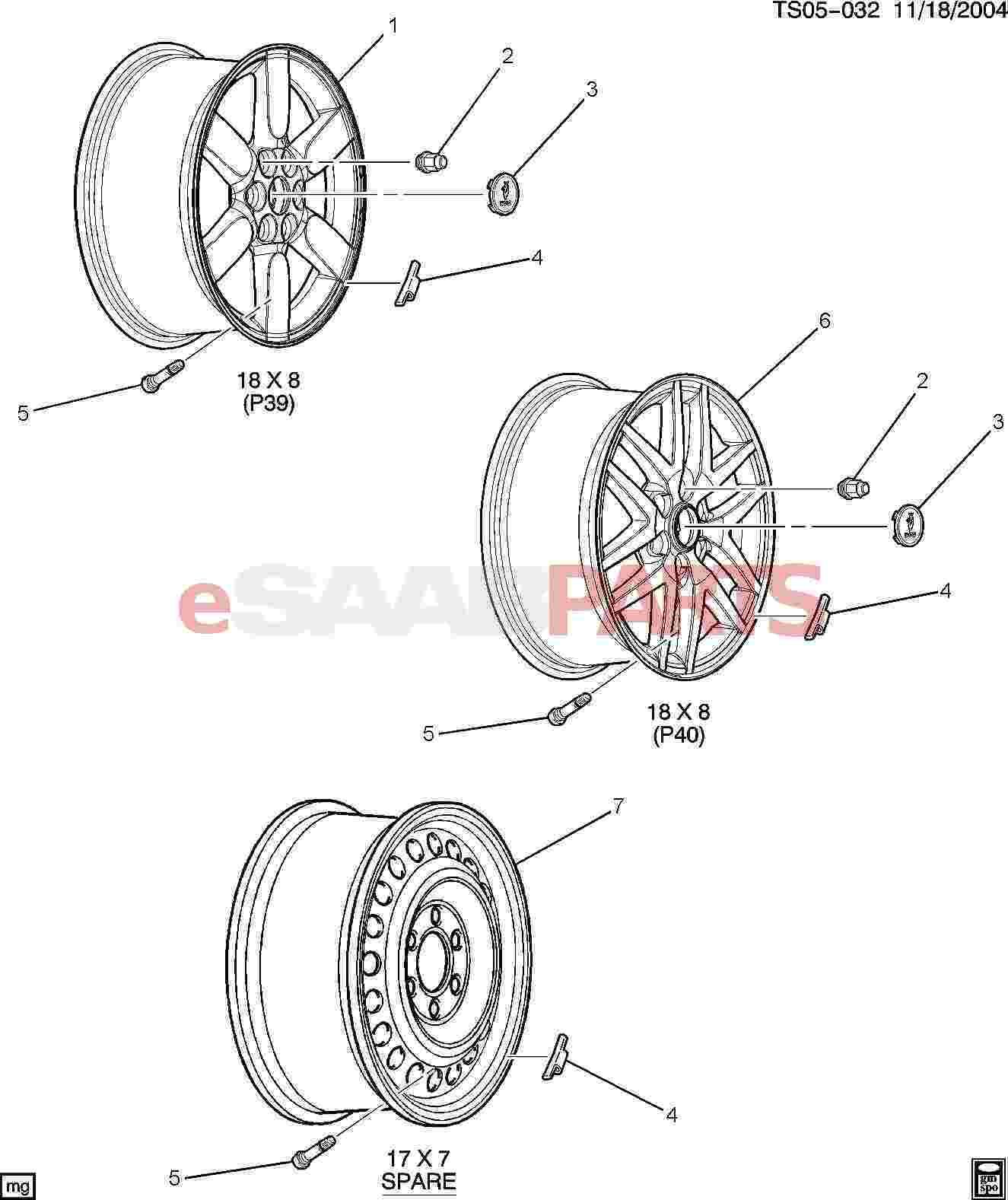 Saab Wheel 18x8