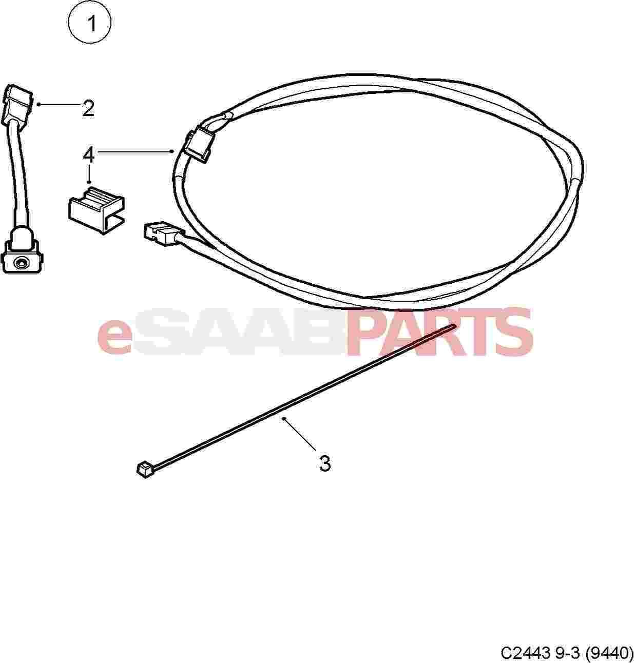 Saab Aux Adapter Kit 9 3 06