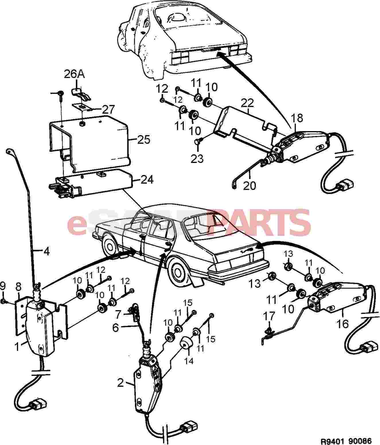 Saab 900 Central Locking Wiring Diagram