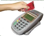 Máquina de cartão de crédito no culto. Concorda?